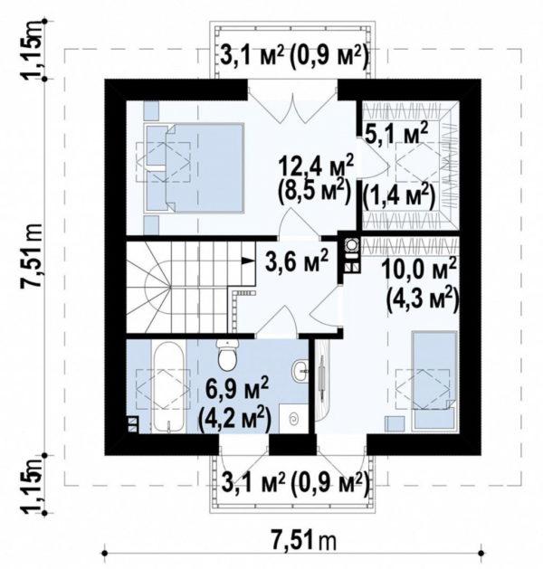dvuhetazhnii-dom-sip-panel-90m-plan-2f